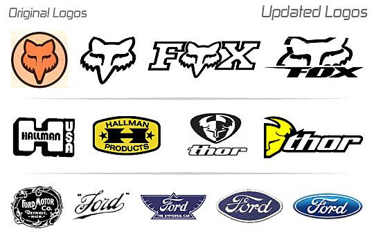 Motocross brand logos