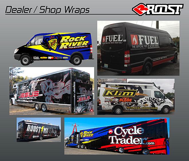 Roost Mx Motocross Graphics Race Auto Wraps